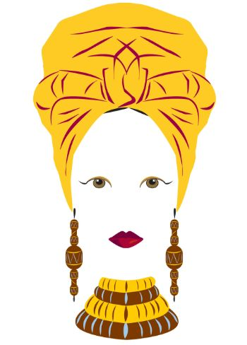 African Head Wrap Any Occasion Card (any004)
