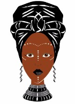 Powerful Sista - Black Any Occasion Card