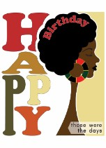 Afro Sista - Black Birthday Card for Her General