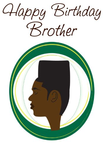High Top Hairstyle Brother Birthday Card (bhm0018)
