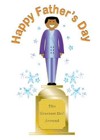 Dad Trophy Fathers Day Card (dada001)