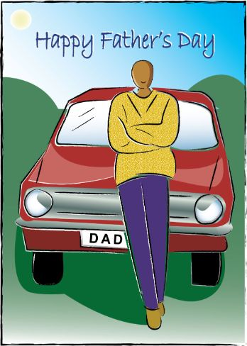 Dads Car Fathers Day Card (dad002)