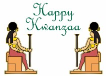 2 Egyptians Seated for Kwanzaa - Kwanzaa Card