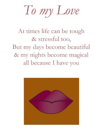 black woman lips Love Card (ily001)
