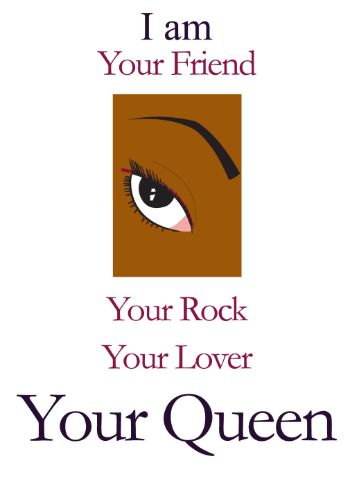 I Am Your Black Queen Love Card (ily002)