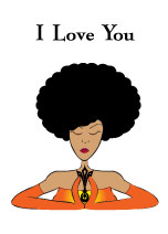 Afro Woman Orange Gloves - Love Card