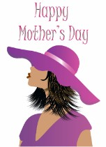 Posh Mom - Black Mother's Day Card