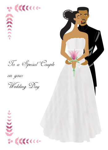 Black Couple Wedding card (wed001)